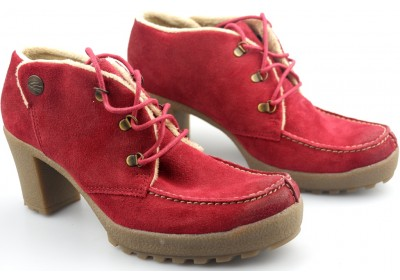 Camel Active ankle boots 774.11.02 berry red suede