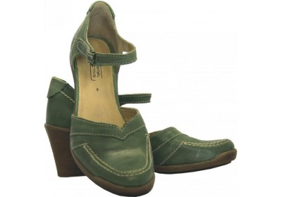 Camel Active pumps 785.12.02 jungle green leather