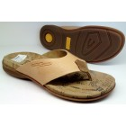 Camel Active 7.366.25 beige leather slippers for women