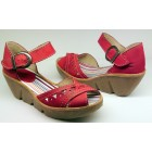 Camel Active 720.12.01 red nubuck sandals for women
