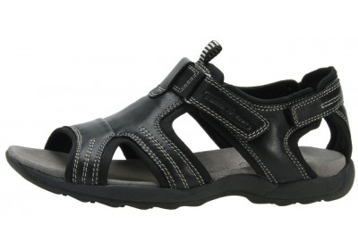 Camel Active 760.70.01 black leather sandals for women