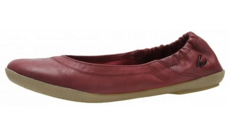 camel active ballerina wine red leather