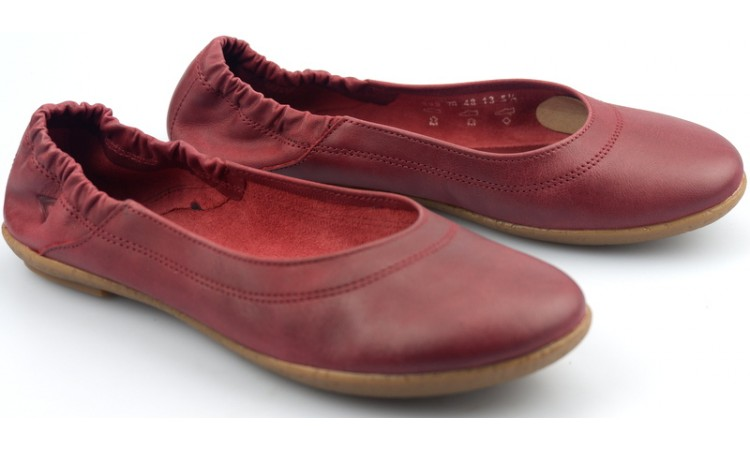 Camel Active ballerina 800.70.01 wine red leather