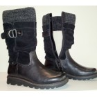 Camel Active medium long boots 750.13.07 black leather WOOLLINED