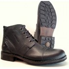 Camel active 269.11.04 dark grey (looks black) leather boot for men