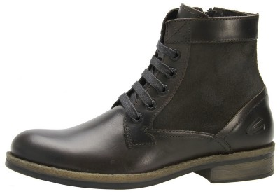 Camel Active boots 368.22.01 dark gray leather and suede combi