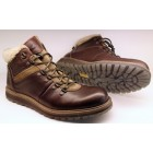 Camel Active ankle boots 332.14.03 brandy brown leather