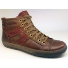 Camel Active 211.15.02 cognac brown leather sneaker boots for women