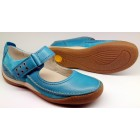 Camel Active flat 717.11.01 sportnappa turguoise blue leather