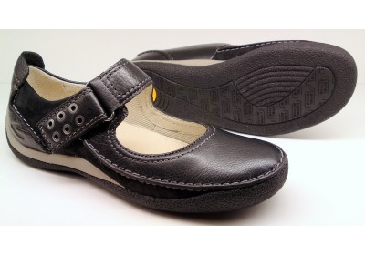 Camel Active flat 717.11.05 sportnappa black leather