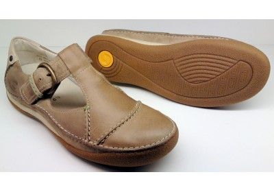 Camel Active flat 717.12.01 sportnappa beige leather