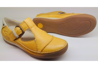 Camel Active flat 717.12.02 sportnappa yellow leather